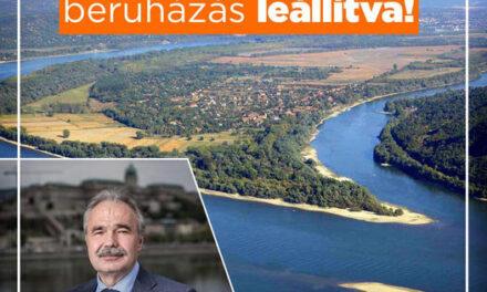 A kisoroszi szigetcsúcsra tervezett beruházás leállításra került