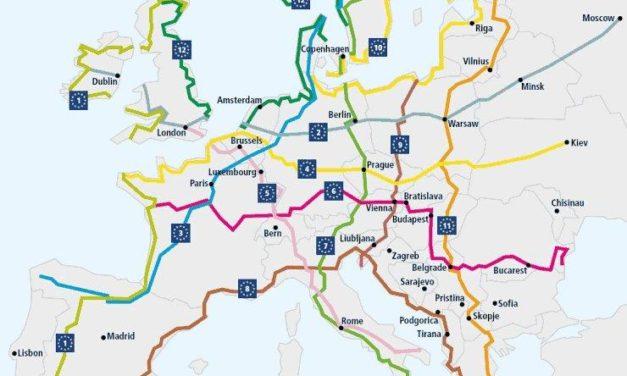 Az EuroVelo útjainak nagy része lokális lesz