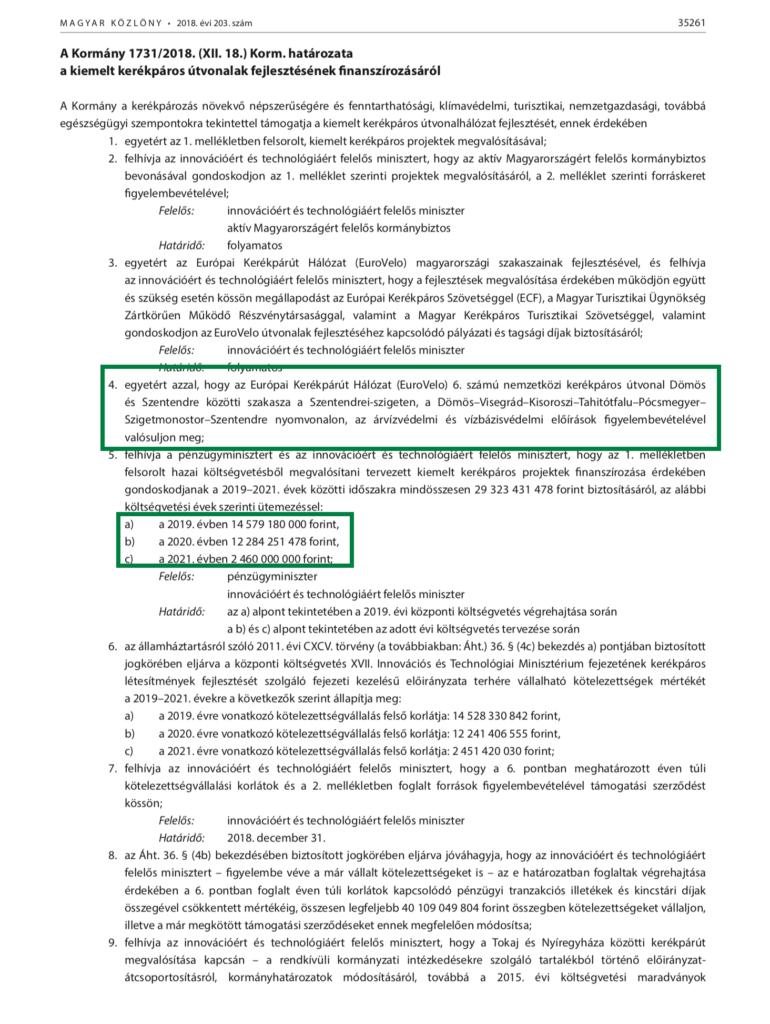 Kormányhatározat a Kisoroszi és Dunabogdány között épülő híd finanszírozásáról