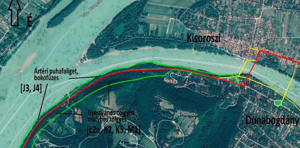 Térkép - Kormányhatározat a Kisoroszi és Dunabogdány között épülő híd finanszírozásáról